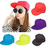 Wholesale New Fashion Adjustable Solid Hip Hop Snapback Baseball Cap Unisex Comfortable Fashion Cotton Golf Hat for Men Women