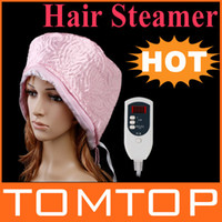 Wholesale Pink Hair Thermal Treatment Beauty Steamer SPA Cap Hair Care Nourishing with Digital Display