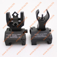 Wholesale Drss Troy Metal Folding Battle Front and Rear Luminous Sight Black DS1529