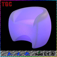 Wholesale custom rustic furniturePrivate patio chair configuration stylish LED light emitting bar chair sixteen kinds of color changetable nightclub