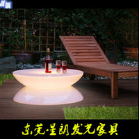 Wholesale custom rustic furnitureled light bar table in the hotel bar KTV fashion creative round bar tables and chairs coffee table Colorful LEDtable