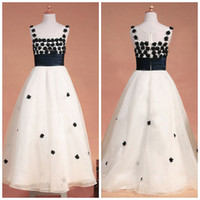 dhgate girls - Beautiful Dhgate Dress Scoop A Line Floor Length With Handmade Flowers Zipper Back Tulle Girl s Pageant Dress Flower Gir s Dresses ZAHY