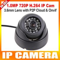 Wholesale H Mini dome IP Camera P Securiy HD Network CCTV Camera Megapixel indoor ir cut onvif p2p cloud support Phone Android