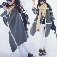 Wholesale South Korea Shopping European and American big sale Angola loose casual wool coat lapel woolen cape coat