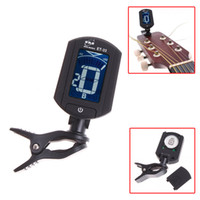 Guitar auto guitar - LCD Auto Mini Digital Guitar Tuner Clip on Chromatic Bass Violin Ukulele Tuners A0 HZ A6 HZ I34