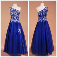 Wholesale Best Selling Dhgate Dress One Shoulder A Line Floor Length With Beads Zipper Back Tulle Girl s Pageant Dress Flower Gir s Dresses ZAHY