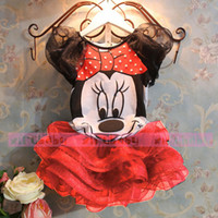 Wholesale Retail Bear Leader Summer New children Girl s dress Suit Minnie Mouse kids Clothing sets princess girls clothes
