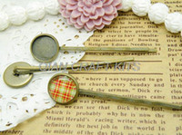 Wholesale 50pcs Hair Pin Blank Antique Bronze bobby pins with pad mm Bezel mm