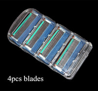 Wholesale Fusion_4s Shaving razor blade for men without reatiail packaging F shaver blade