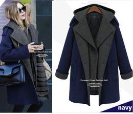 2015, Европейское женское Осень Зима полушерстяные короткий мода Элегантный Полный Шерсть капюшоном сгущает пальто и пиджаки плюс размер L-6XL # S0536