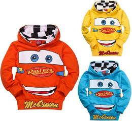Wholesale La manera al por mayor de la alta calidad embroma hoody clothing de los niños del coche de la camiseta de la camiseta de los coches de la historieta de los niños de los hoodies de los muchachos de los muchachos
