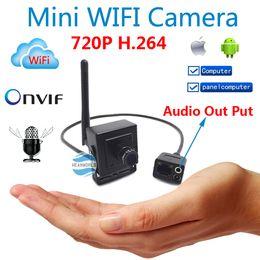 Nouvelle caméra 720P mini-IP caméras cachées wifi système de sécurité CCTV ONVIF HD sans fil p2p de came avec audio pour porte vidéo maison à partir de hd sans fil pour la vidéo fournisseurs
