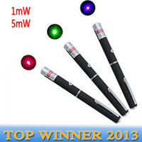 Wholesale 1mw mw NM Green Red Blue Laser Pointer Pen MW Laser pointers Pen For XMAS SOS Teaching Salesman DHL C1
