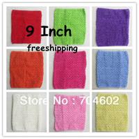 Cheap DHL Freeshipping Baby Crochet Tube Top Tutu Top Girls Chest Wrap Wide Crochet Headband size 7.9x9inch 120pcs lot H018
