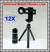 Cheap 12X Magnification Universal Mobile Phone zoom Telescope Magnifier Optical Camera Lens For iPhone Samsung HTC Nokia