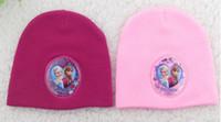 Wholesale 2014 Autuma winter hats Frozen elsa anna sun hat Children s beach hat UV cap accessories caps bone snapback beanie bucket hat Knitting warm