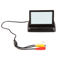 Wholesale 4 quot Foldable TFT Color LCD Car Reverse Rearview inch car Security Monitor for Camera DVD VCR V K882