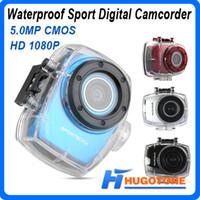 Wholesale Hot Helmet Sports DVR Sport Waterproof Camera HD Action Camera Sport Cam Outdoor Mini Camcorder Gopro Hero DV Digital Video Cameras SC01
