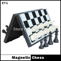 board game pieces - New Hot Sale International Chess pieces Checkers Folding Magnetic Board Chess Game
