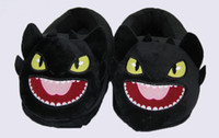 Wholesale How to Train Your Dragon Toothless Night Fury plush slippers soft stuffed house shoes