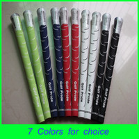 Wholesale 2014 Fashion Golf Pride Top Class Rubber Golf Grips Fitting Iron Club Golf Driver Golf Hybirds Colors Accept Mix Order Free Ship DHL