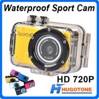 Wholesale New Fashion Design Waterproof Mini DV100SA HD P Smallest Gopro Style Sport Action Helmet Camera DV DVR Sport CAM Camcorder SC02