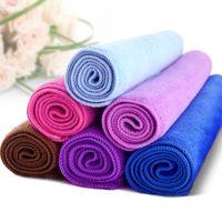 Wholesale Microfiber hair towel salon spy beach fast drying hair bath towel washrag washcloth cm