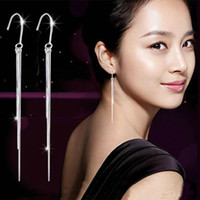 Cheap Brand New Jewelry 925 Sterling Silver Three-Wire Hook Super Long Dangle Earrings Earring Earbob