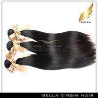 Brazilian Hair Bundles droite soyeuse des cheveux Remy Hair Weave humain 3pcs / lot Natural Color année 7A 10-30 pouces cheveux Trame livraison gratuite