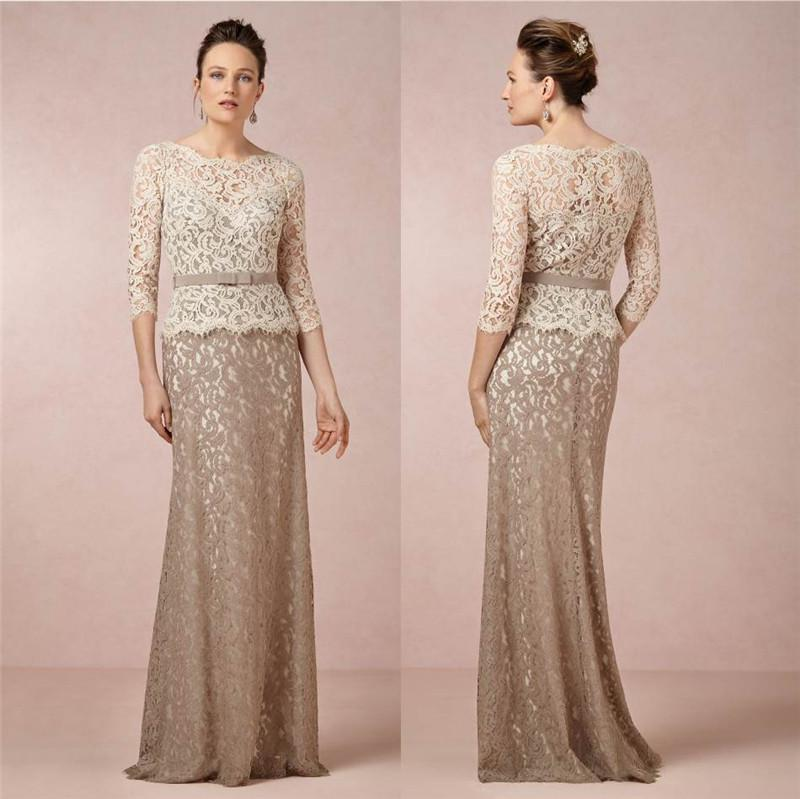 Elegant 2014 Bhldn Inspired Lace Vintage Motherof The Bride ...
