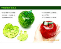 Wholesale N148 supply factory direct three dimensional crystal puzzle apple
