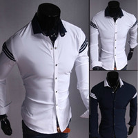 Wholesale 1269 HOT New Stylish Popular Uyuk Mens Luxury Casual Formal Slim Fit Long Sleeve Shirts