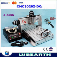 Wholesale free gift W CNC Z DQ Axis Engraving Machine Drilling Milling Carving Router For PCB Wood Other support D work