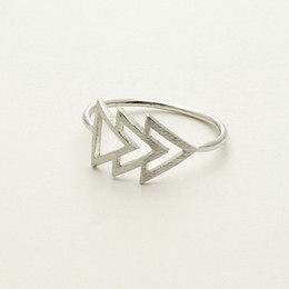 Wholesale 10pcs new arrival personalized Triforce Ring Midi Ring simple jewelry JZ108