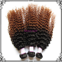 Cheap curly hair extension Best ombre wavy human hair