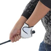 Wholesale Men Golf Glove Wrist Grip Guide Non Slip White Sheepskin Left Hand