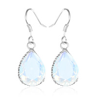 5PCS 1Lot Christmas Jewelry Gift- - Lucky Stone Drop Moonstone...
