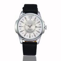 Cheap CURREN 8123 Brand Wristwatches Japan Movement Leather strap Quartz Watches Gentleman Big Dail With Calendar Colck Hours 100pcs lot