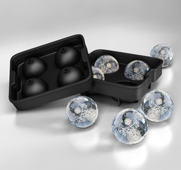 Silicone Ice Ball Maker Sphere Mold 4 Ice Balls Round Ice Mould for Whiskey Cocktail Frozen Silicone Ice Tray Maker Bar Party