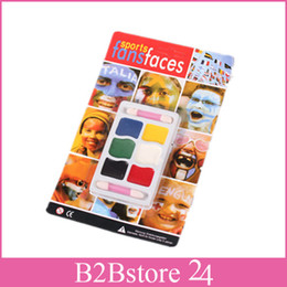 Wholesale Halloween Face Paint Kids Makeup Halloween Carnival Party Sports Face Paints Colors Fast Shipping