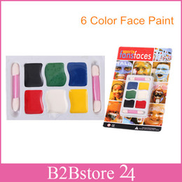 Wholesale 6 Colors Halloween Face Body Paint Halloween Carnival Party Sports Makeup Face Painting Body Paint