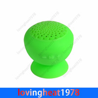 Wholesale 50 Wireless Waterproof Mini Bluetooth Speaker Silicon Suction Cup Handfree Holder for iphone G S G S C for Samsung