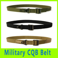 Wholesale 201409 New Item Militaria Survival Tactical Belt Waist Strap Fire Rescue Military Hunting Camping CQB Rigger Adjustable Belts Colors A281X