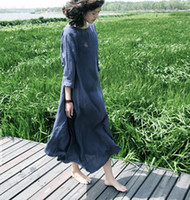 Free shipping women's clothing 2014 autumn dress casual loose cotton