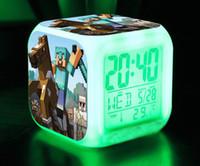 Wholesale Minecraft my world game diamond JJ blame coolie afraid multifunction models Alarm Clock Night Light Customizable TT40473772449 H