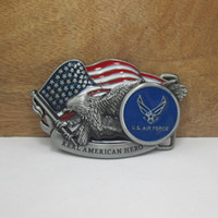Alloy air force flags - Buckle Home US air force belt buckle with pewter finish suitable for cm wideth belt FP