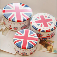 Wholesale Promotion England Style Round metal case set storage box Iron container Tin case Candy box Cake case