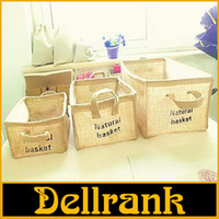 Wholesale PE jute Multifunctional desktop storage box debris Storage basket Storage basket for Simple Storage Appliance