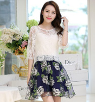 Wholesale 2014 Sweety For Big Girl Dress Floral Lace Tops Braces Flower Organza Puff Lady Dress Ladies Clothing Women Outfits Tutu Skirts White K1084