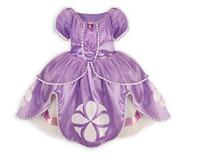 Wholesale Retail pic frozen dress sofia princess Fluffy dress big petals princess Sophia Free shopping